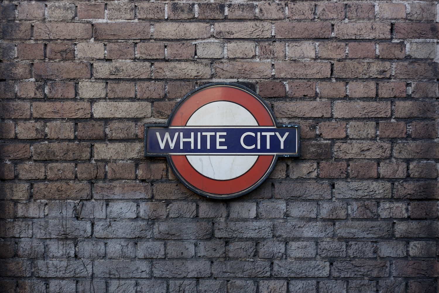 White city tube sign