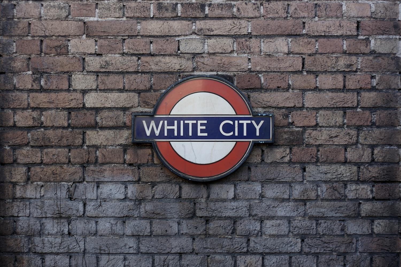 White city tube sign